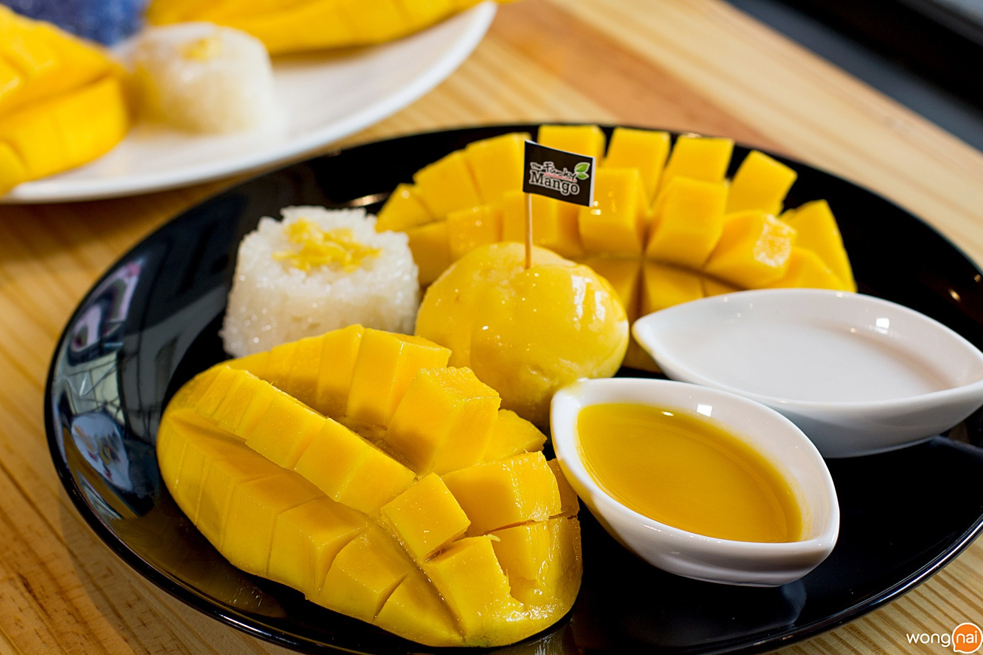 The signature Mango sticky rice ร้าน The Funky Mango หาดใหญ่