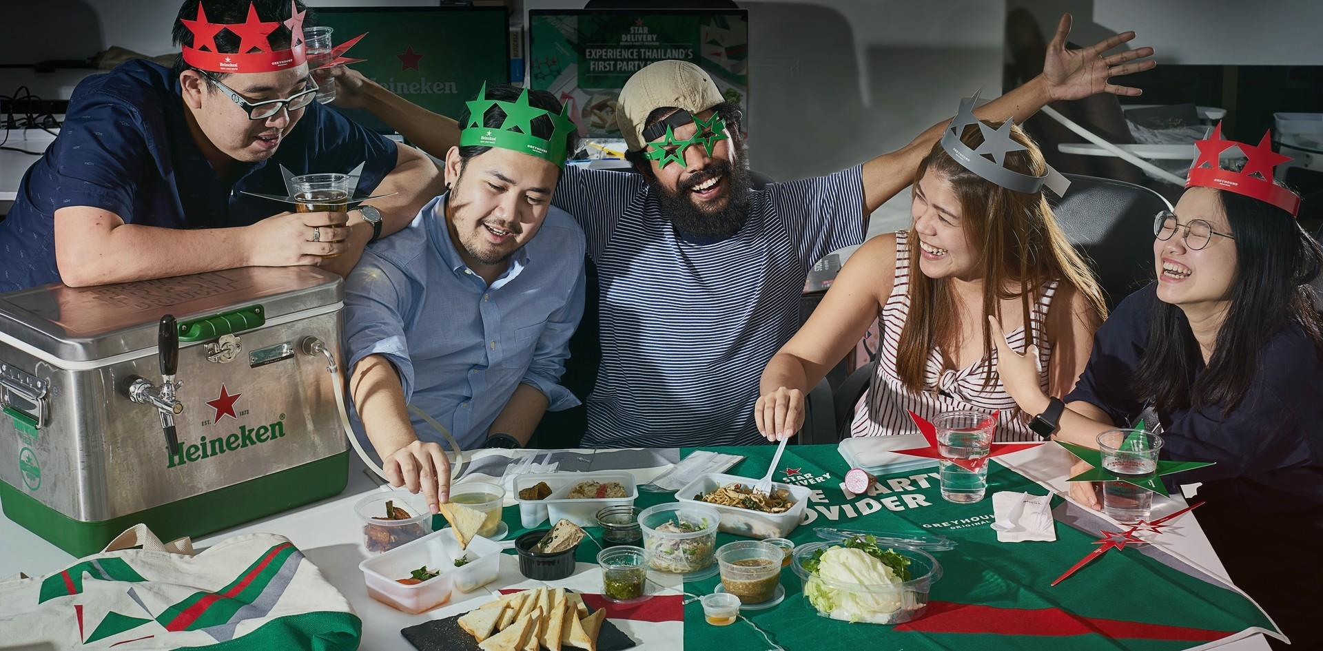 เสิร์ฟความสุขถึงบ้าน! ส่งท้ายปีด้วยปาร์ตี้เซตจาก Heineken x Greyhound
