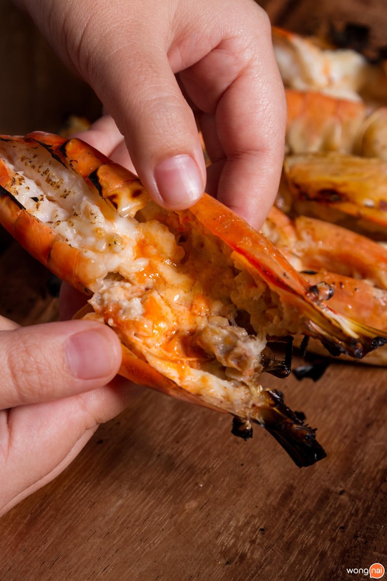 เมนู กุ้งเผา ร้าน Kita Yakitori & Grilled Seafood เชียงใหม่