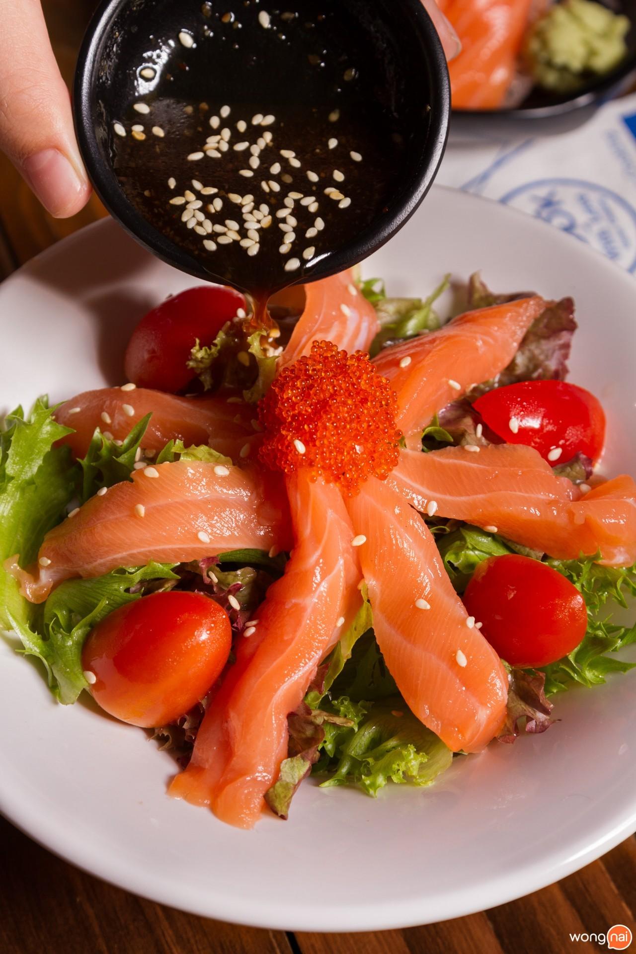 เมนู Salmon Salad ร้าน Kita Yakitori & Grilled Seafood เชียงใหม่
