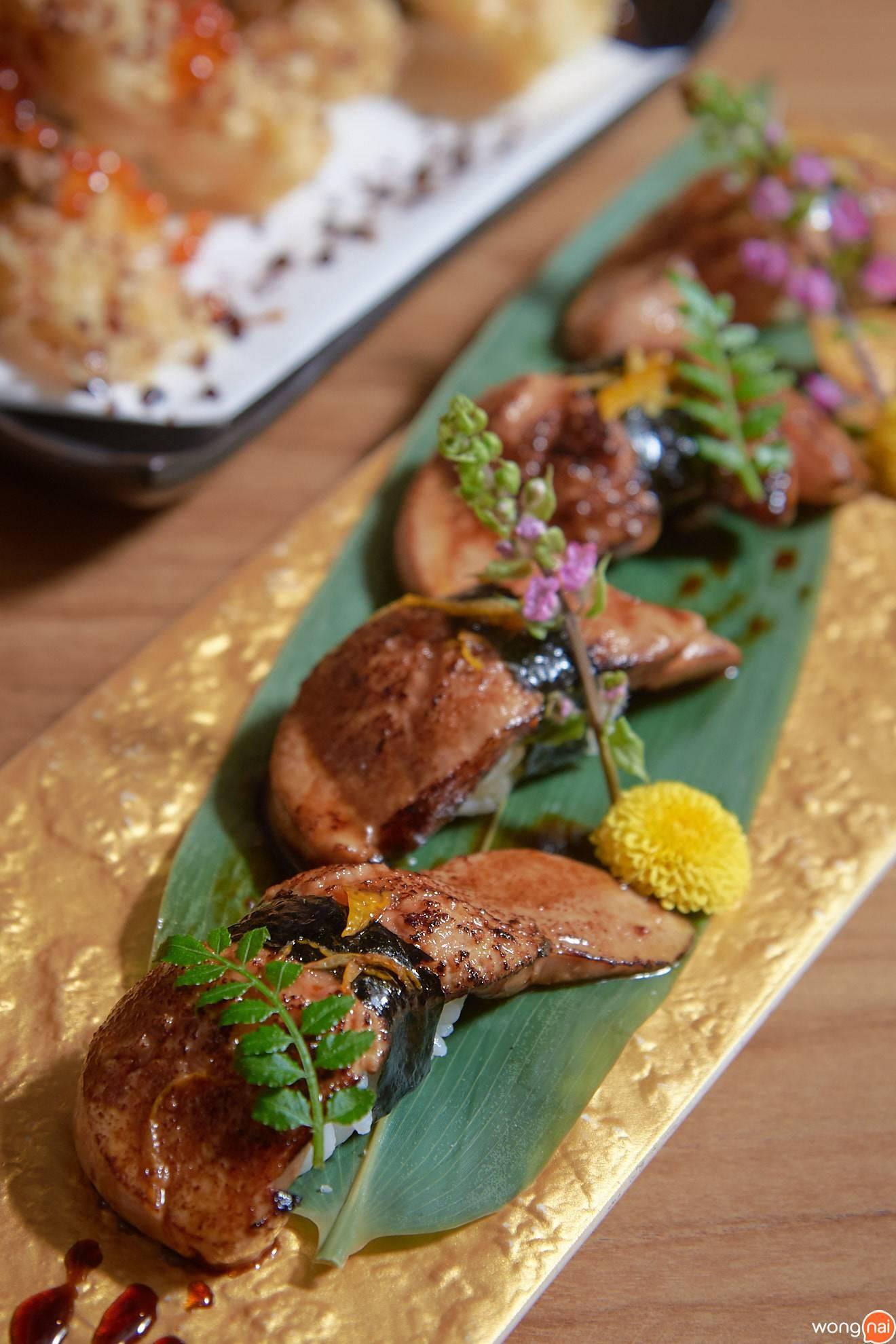 """""""Foie Gras Sushi"""" ของร้าน Sushi Seki"""