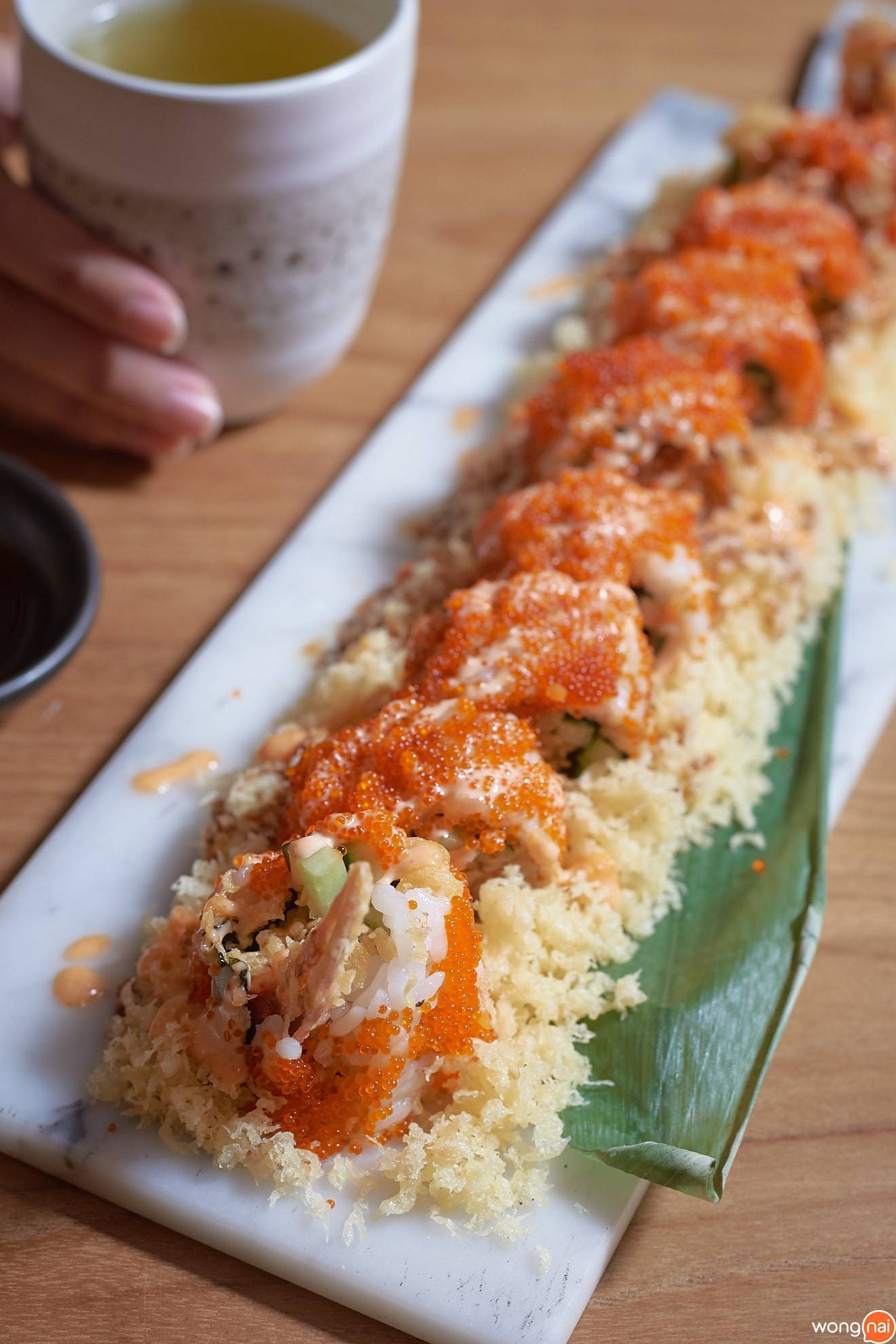 """Seki Spider Roll"" ของร้าน Sushi Seki"