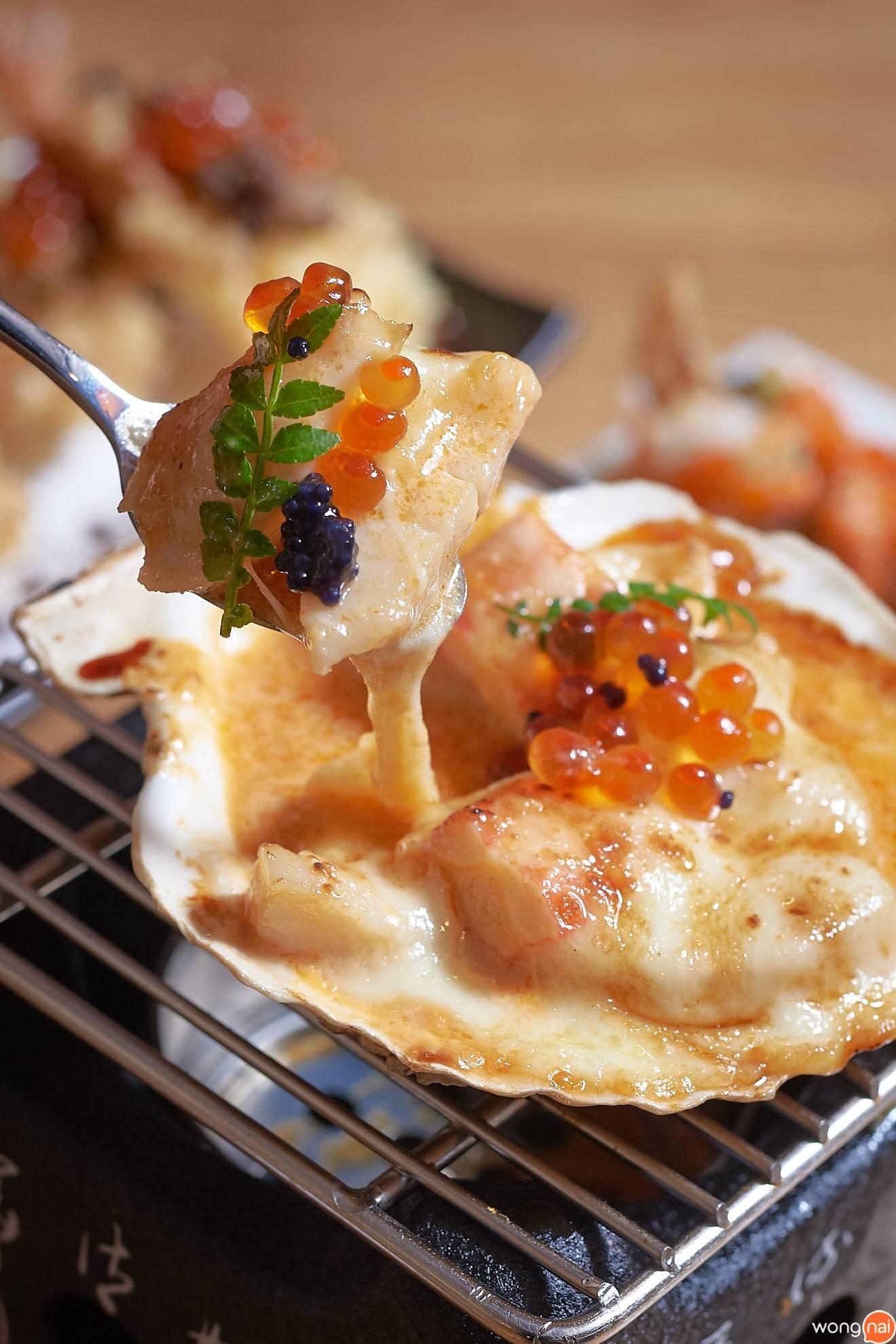 """""""Hotate Cheesy Lava Truffle"""" ของร้าน Sushi Seki"""