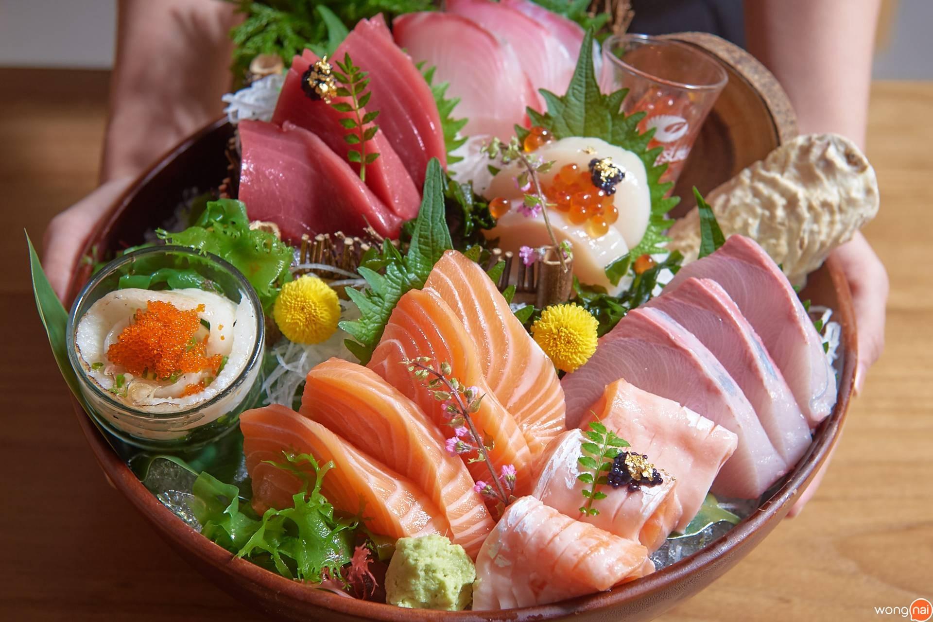 """Ocean' 8 Sashimi Set"" ของร้าน Sushi Seki"