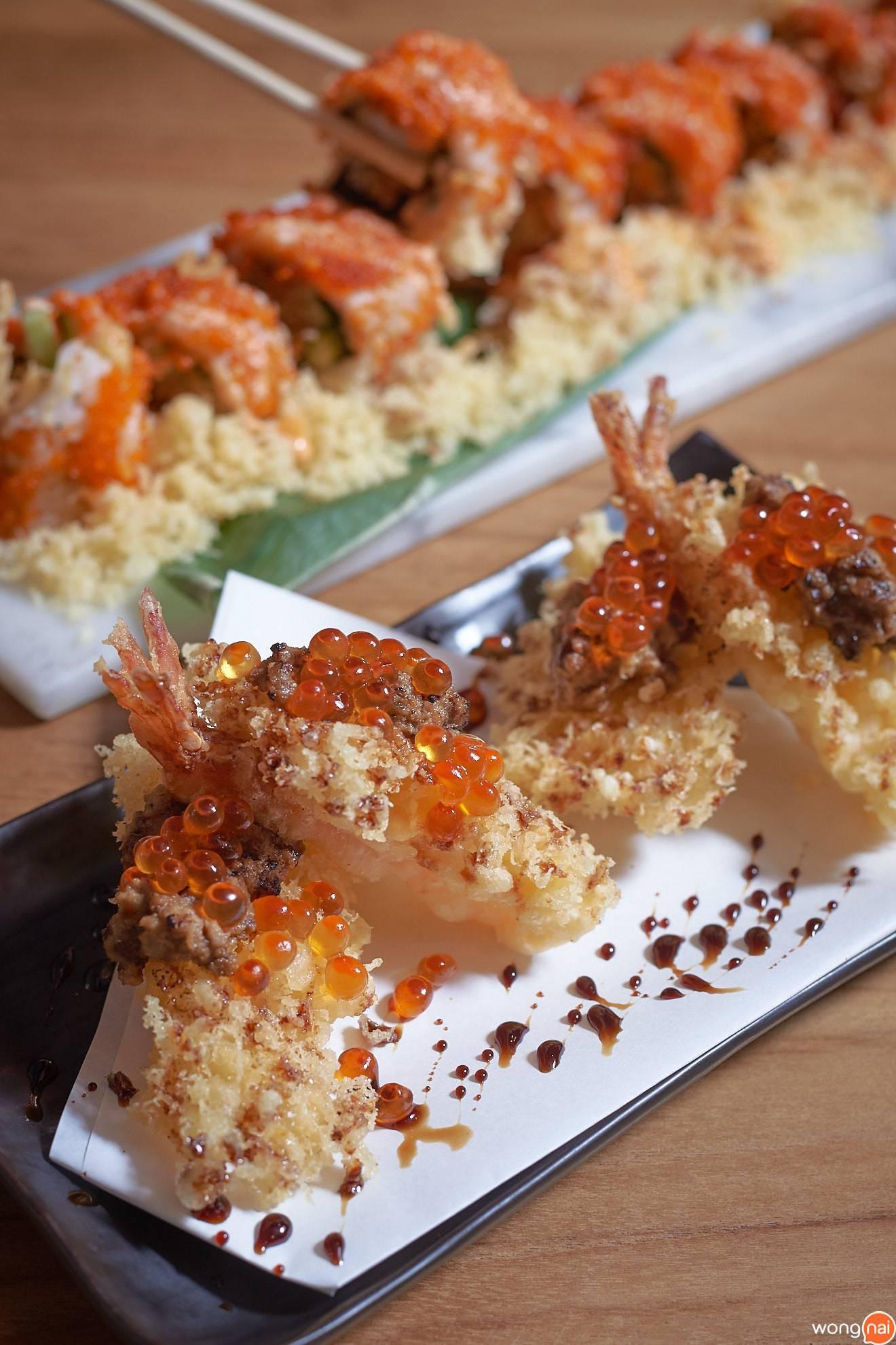 """""""Ebi Maguma Tempura"""" ของร้าน Sushi Seki"""