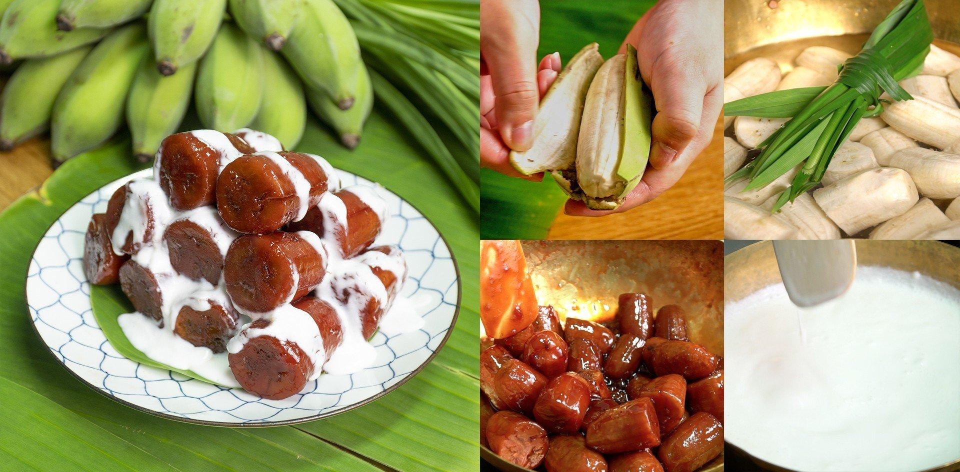 วิธีทำ กล้วยเชื่อมแดง
