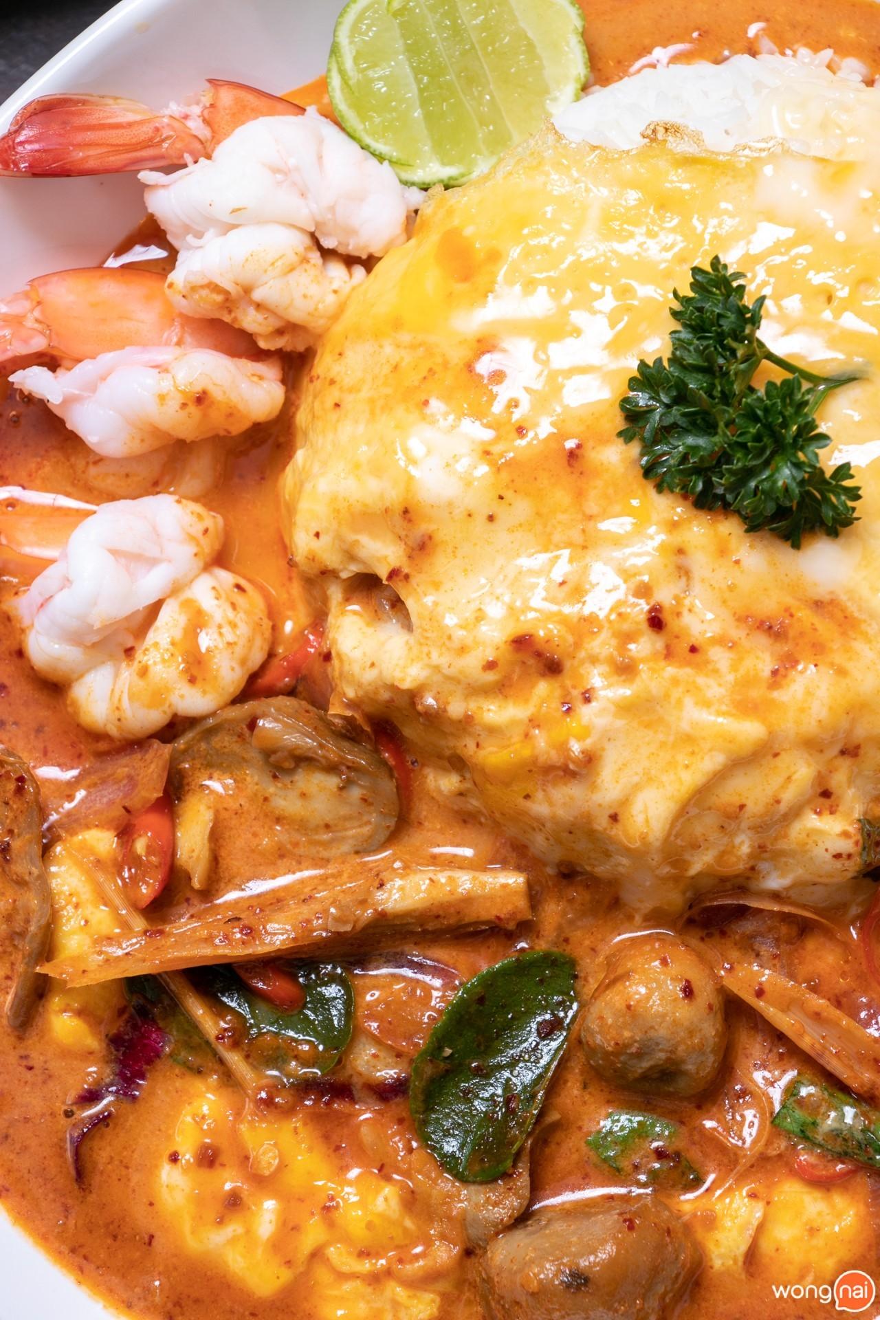 เมนู ข้าวไข่ข้นต้มยำทะเล ร้าน ข้าวเม่า เชียงใหม่ Kowmao Cafe & Restaurant เชียงใหม่
