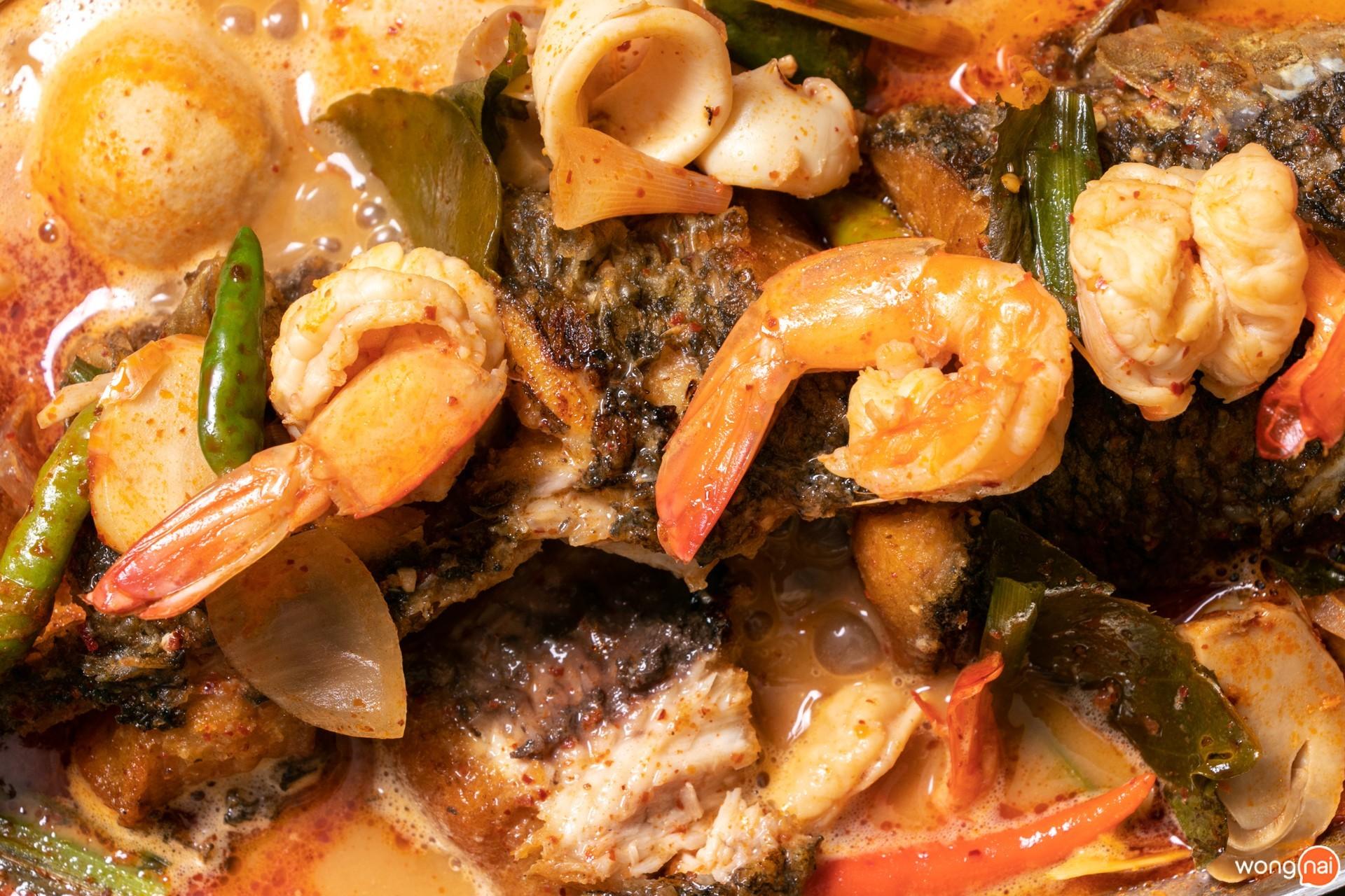 เมนู ปลาช่อนท่องทะเลน้ำข้น ร้าน ข้าวเม่า เชียงใหม่ Kowmao Cafe & Restaurant เชียงใหม่