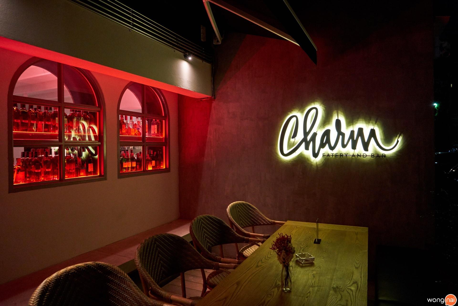 """ร้าน """"Charm Eatery & Bistro"""""""