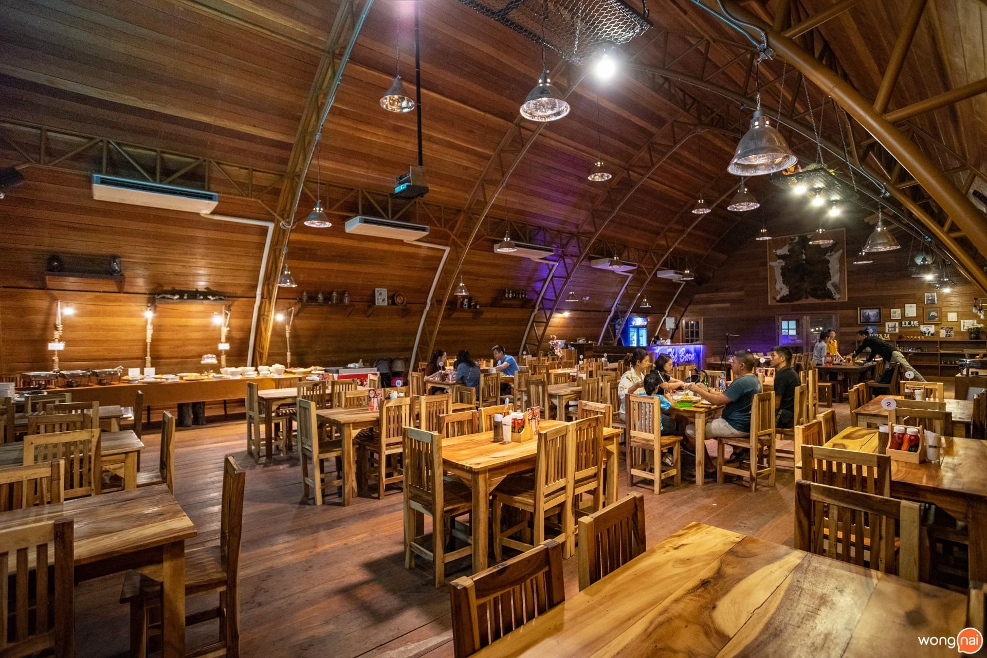 สเต๊ก บุฟเฟ่ต์ หมู่บ้านลึกลับ Hidden Village ที่มีไดโนเสาร์ The Barn Steak House เชียงใหม่
