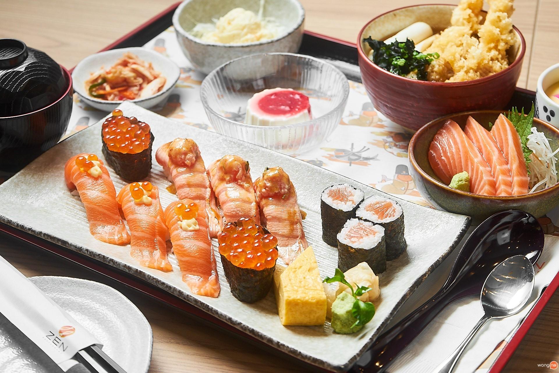 เมนู Shogun Teishoku Set ของร้าน ZEN