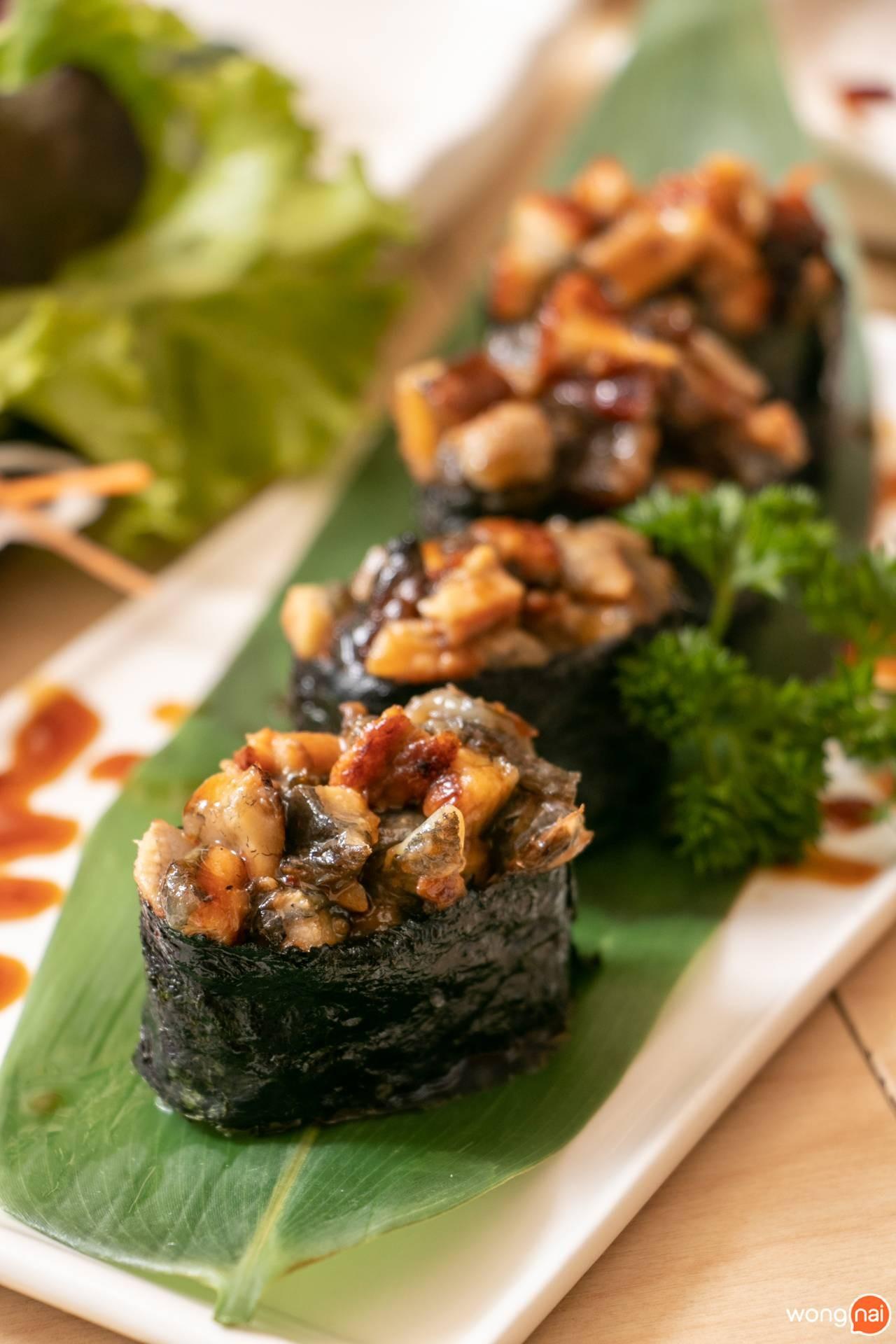 "Unagi Gunkan ของร้าน ""Jaiko Sushi Buffet"""