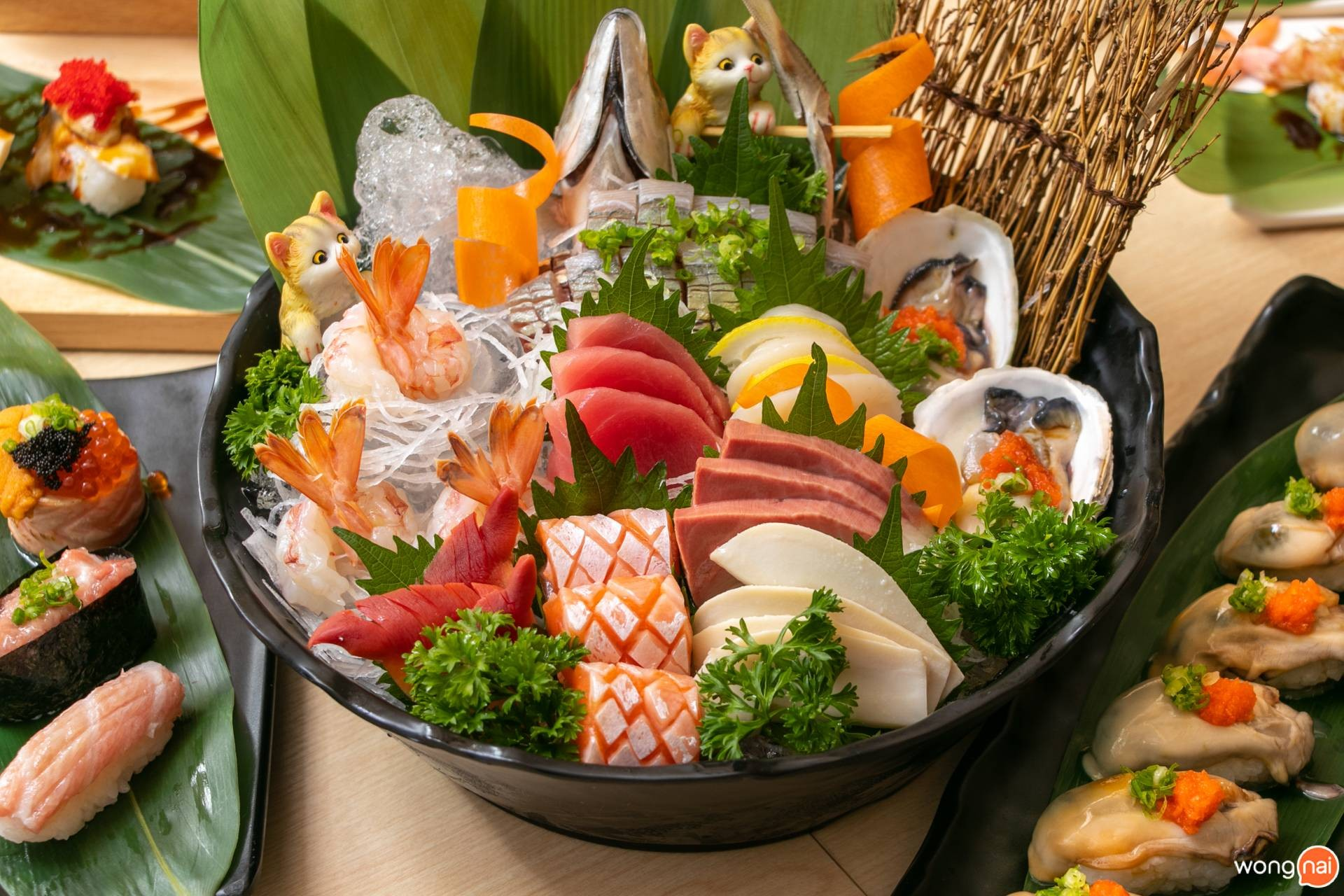 "Sashimi Set ของร้าน ""Jaiko Sushi Buffet"""