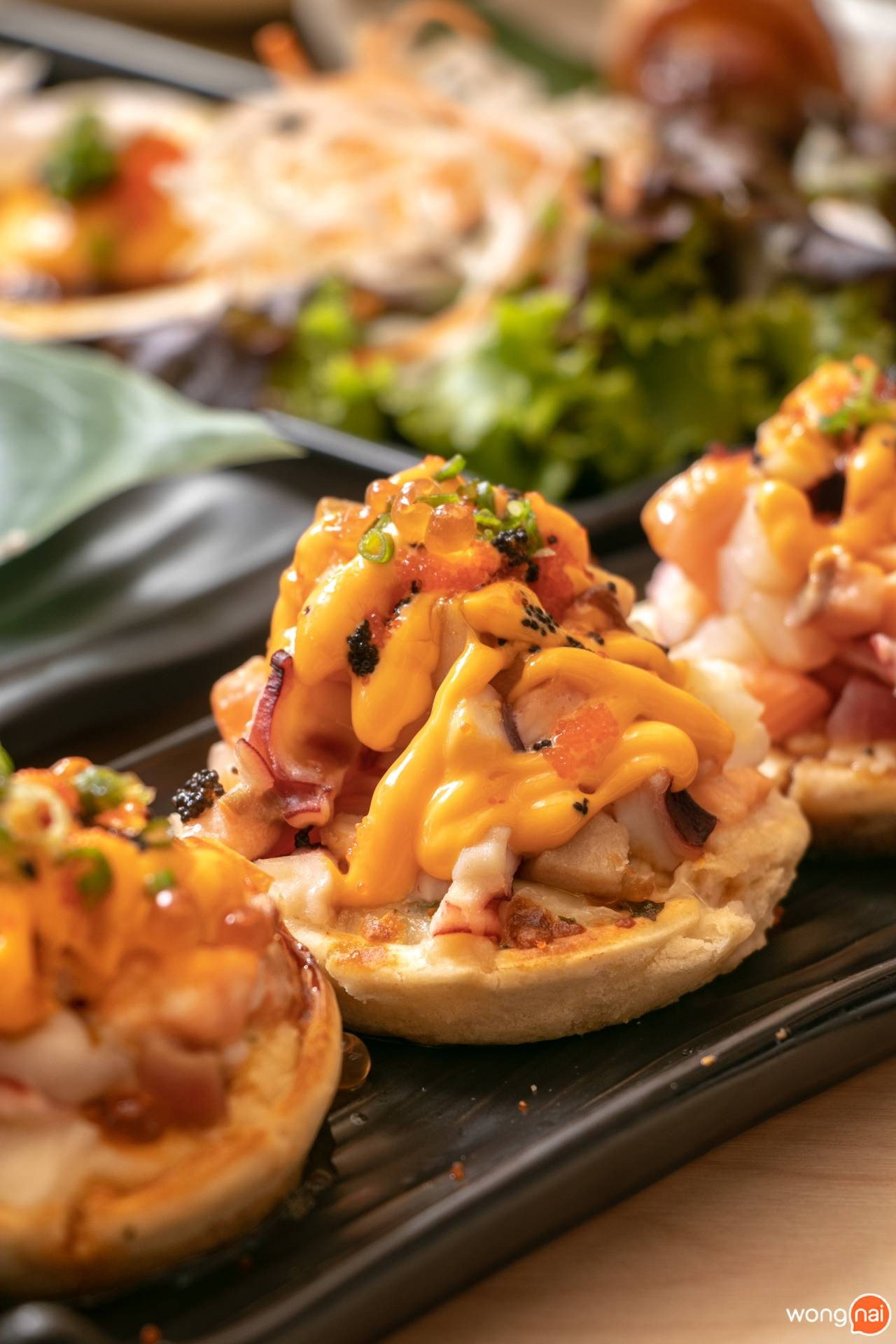 """Mini Seafood Pizza ของร้าน """"Jaiko Sushi Buffet"""""""