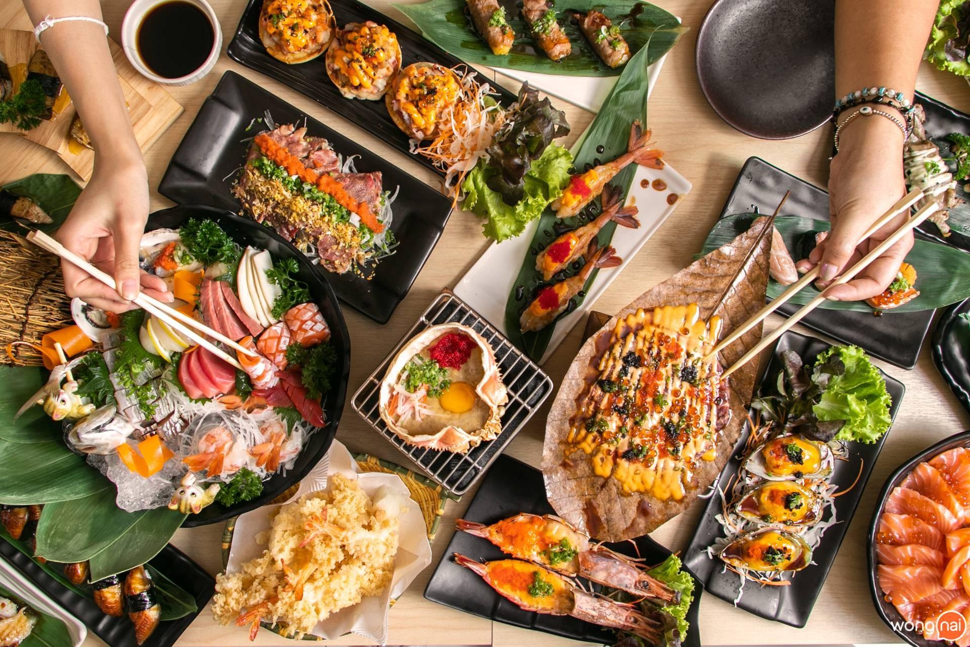 """เมนูอาหารของร้าน """"Jaiko Sushi Buffet"""""""