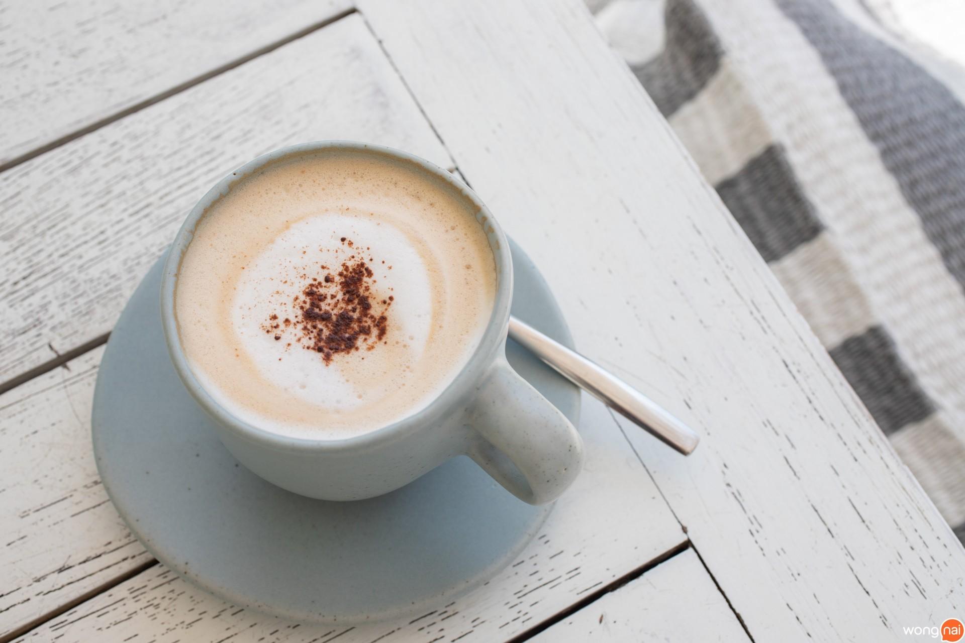 """เมนู """"Hot Cappuccino"""""""