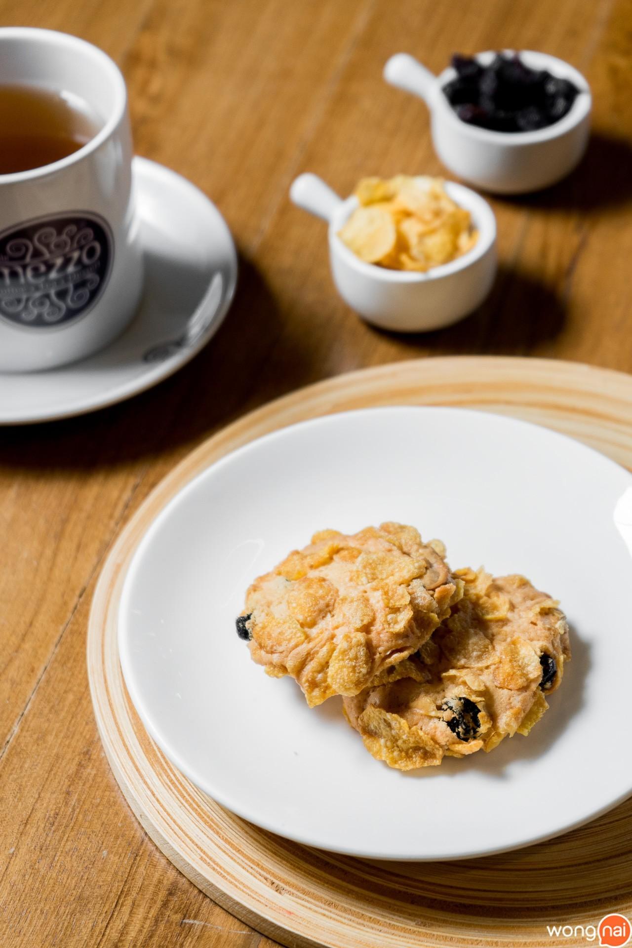 Cookies Conflakes Cashew Nuts ของ ร้านกาแฟและเบเกอรี Mezzo Coffee