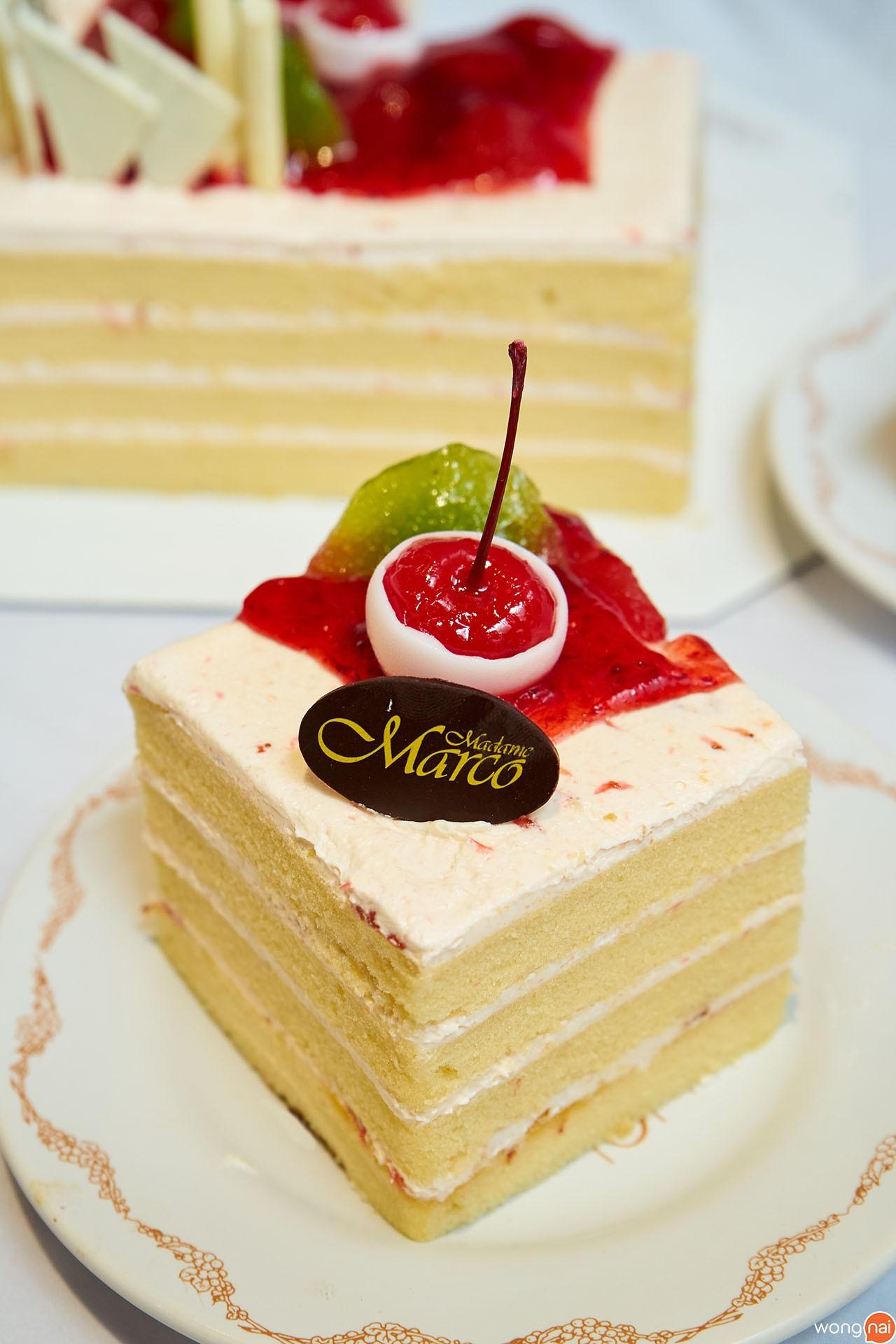 เมนู เค้กชูวี่สตรอว์เบอร์รี ร้าน Madame Marco