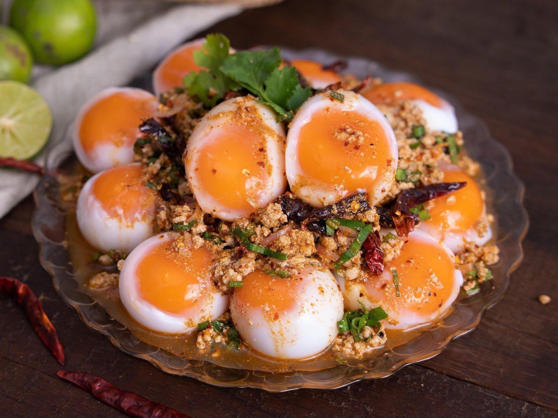 ลาบไข่ต้มยางมะตูม