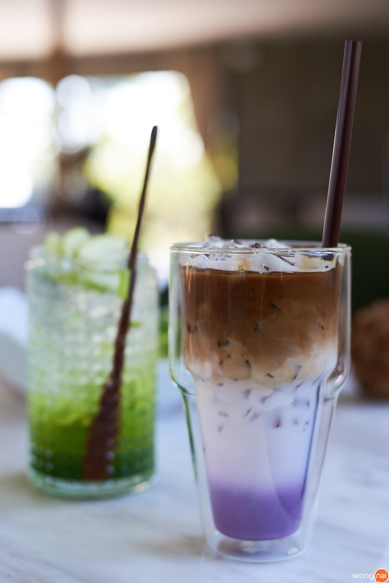 เมนู มุราซากิ ไอซ์ลาเต้ ร้าน Dé Ya Cafe