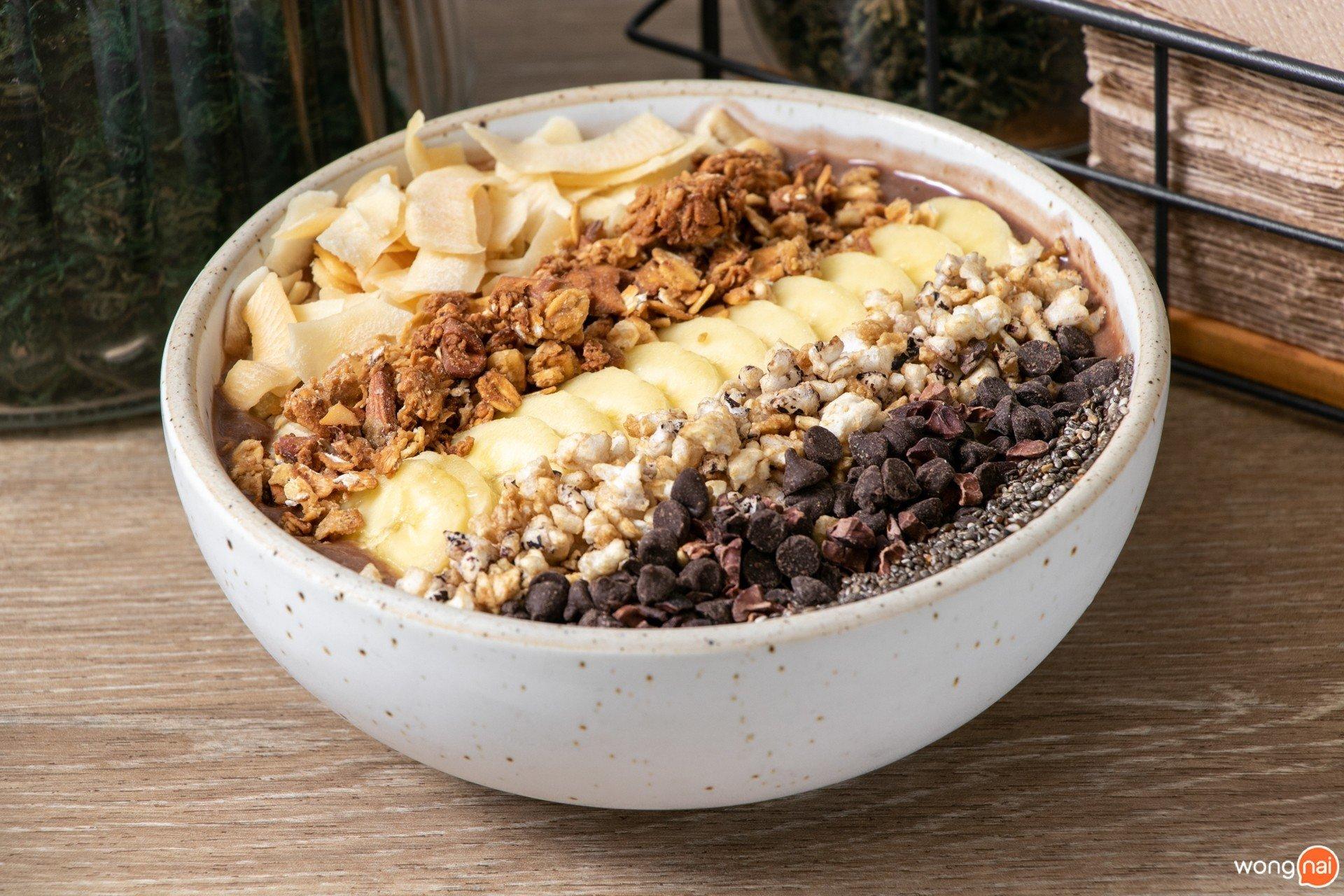 Cacaonana Bowl ของร้าน Brekkie Organic Cafe