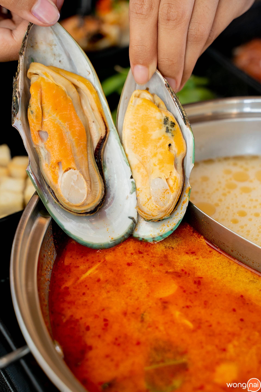 หอยแมลงภู่นิวซีแลนด์ตัวโต๊โต