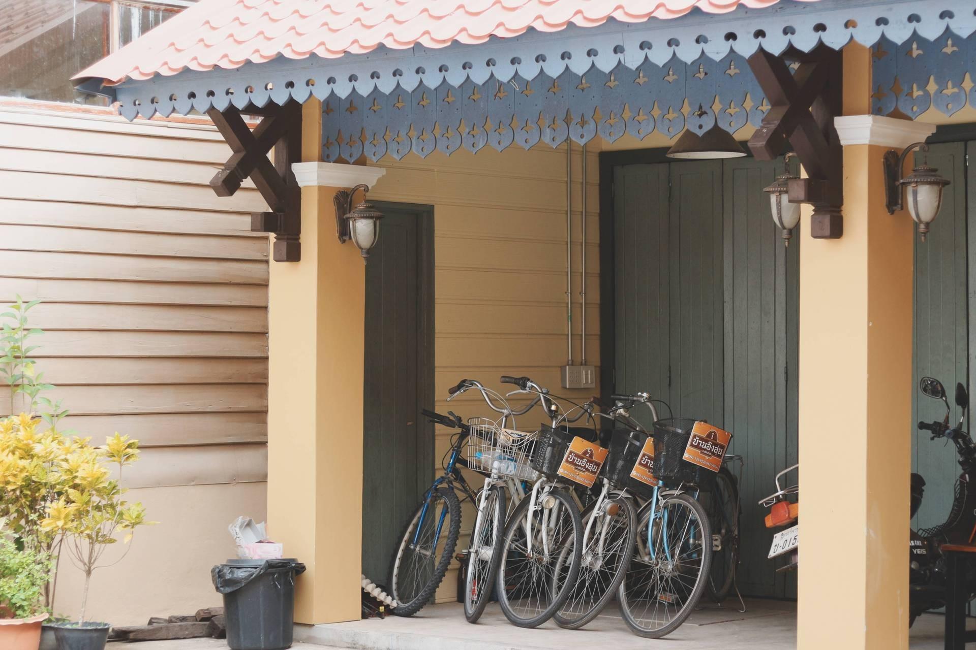 ที่นี่มีจักรยานให้ยืมด้วย