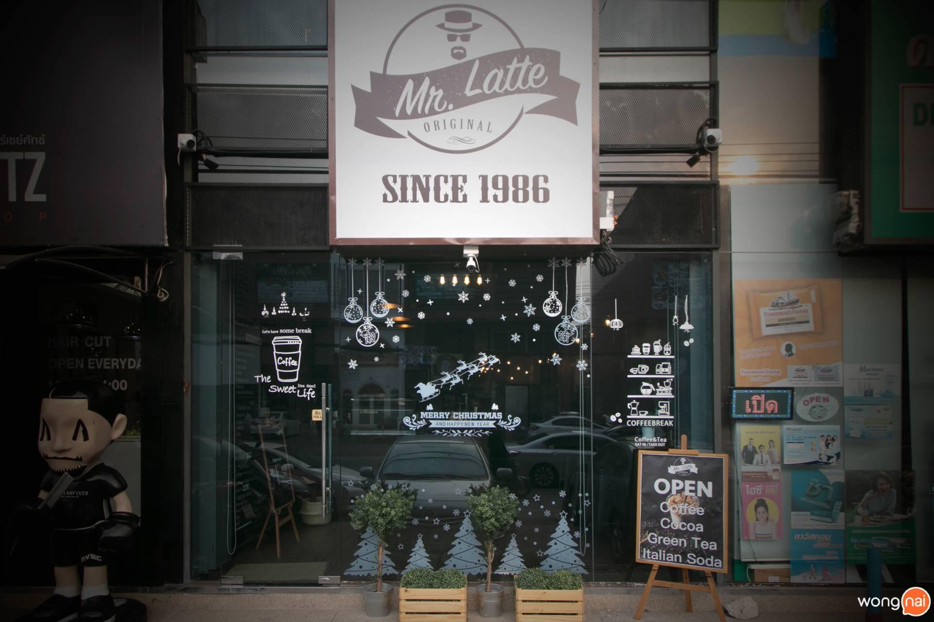 บรรยากาศหน้าร้าน ของร้าน Mr.Latte