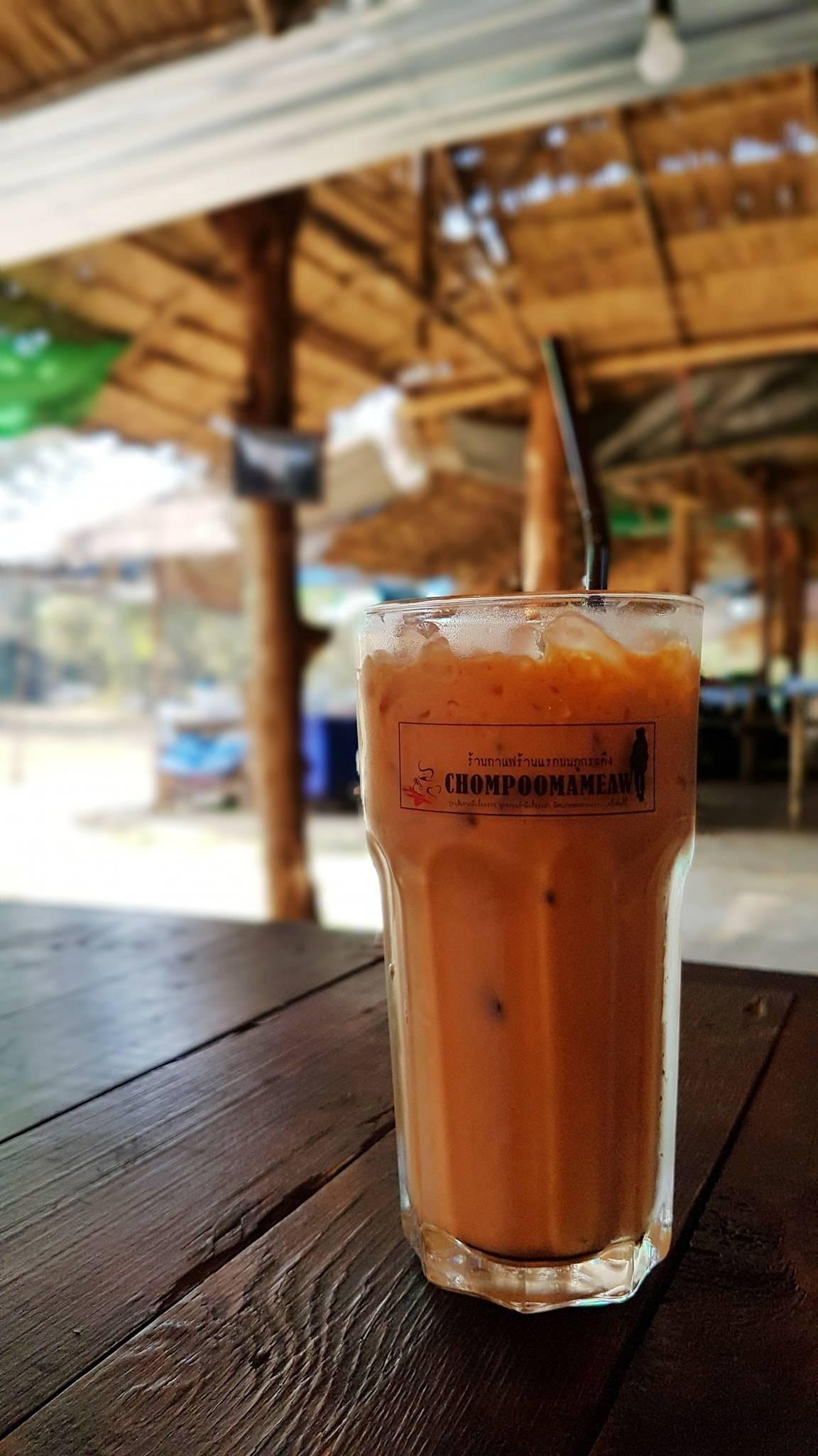 ชา กาแฟเย็น.. ชื่นใจ ที่ร้านกาแฟ ชมพู่มะเหมี่ยม @ผาหล่มสัก