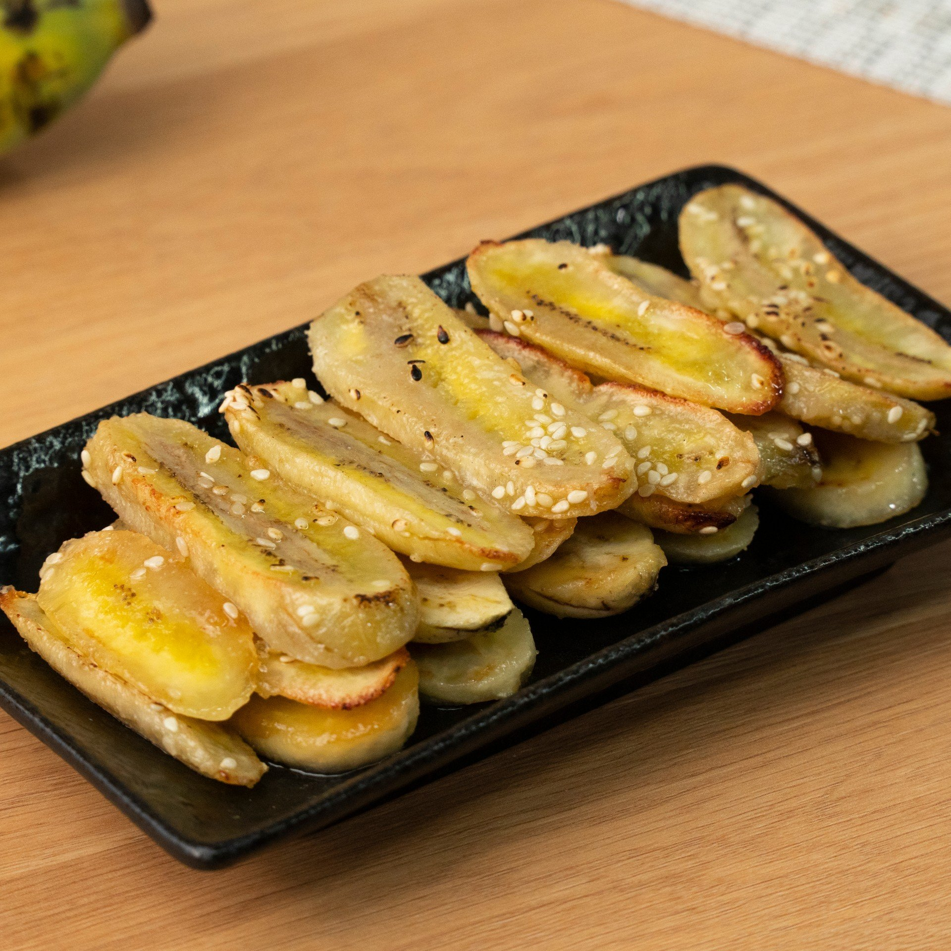 กล้วยอบเนยไมโครเวฟ