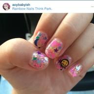 Rainbow Nails Think Park