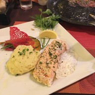 Fresh Salmon Filet with Dill Cream (Slow Cooked)##1