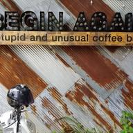 หน้าร้าน BEGIN AGAIN Cafe'