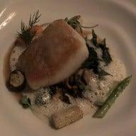 Snow Fish / Mushroom Ragout / Sautéed Baby Spinach / Fish Veloute Emulsion