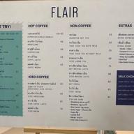 เมนู FLAIR The Espresso Bar Thaniya Plaza