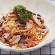 Spaghetti Spicy Garlic & Mushroom