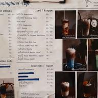 เมนู Hummingbird cafe