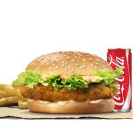 เมนูของร้าน Burger King สนามบิน ดอนเมือง : อาคาร 2 ห้องโถงผู้โดยสารขาออกภายในประเทศ ประตู 3 แอร์ไซด์
