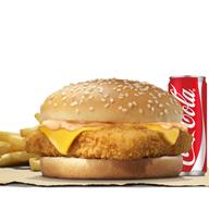 เมนูของร้าน Burger King ปั้มบางจากถนนกาญจนา