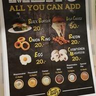 เมนู Sorry I'm Hungry Burger Cafe