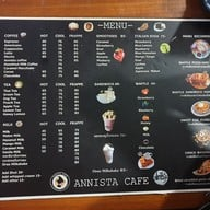 เมนู Annista Cafe
