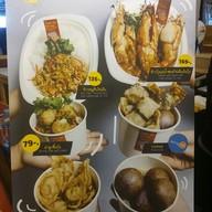 เมนู ร้าน อะเหน่   Raan A-ne' ข้าวกุ้งแม่น้ำเนื้อก้ามปู ตลาดน้อย