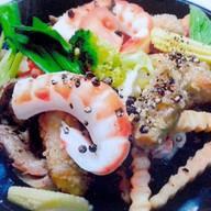 กุ้งกระทะพริกไทยดำ