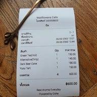 เมนู Wallflowers Cafe
