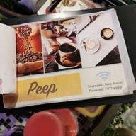 เมนู Peep Cafe