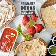 เมนูของร้าน Primani's Indian Restaurant