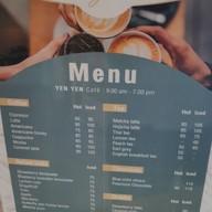 เมนู Yen Yen Cafe
