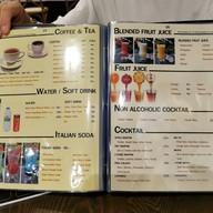 เมนู levanzo italian restaurant &bar
