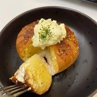 Cream cheese garlic bread.