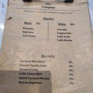 เมนู The Company Coffee